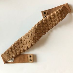 Express woven stretch Belt Brown tan color s/m